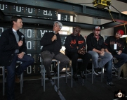 San Francisco Giants, S.F. Giants, photo, 2014, Dave Flemming, Dave Dravecky, Jeffrey Leonard, Joe Staley and Bruce Miller